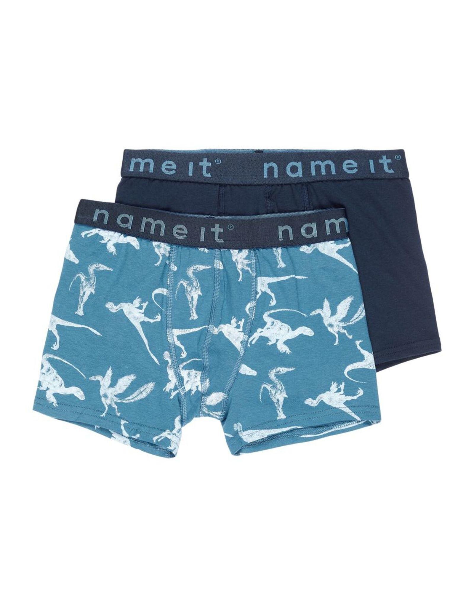 Name It 2-pack boxer short (1 effen en 1 dino print)