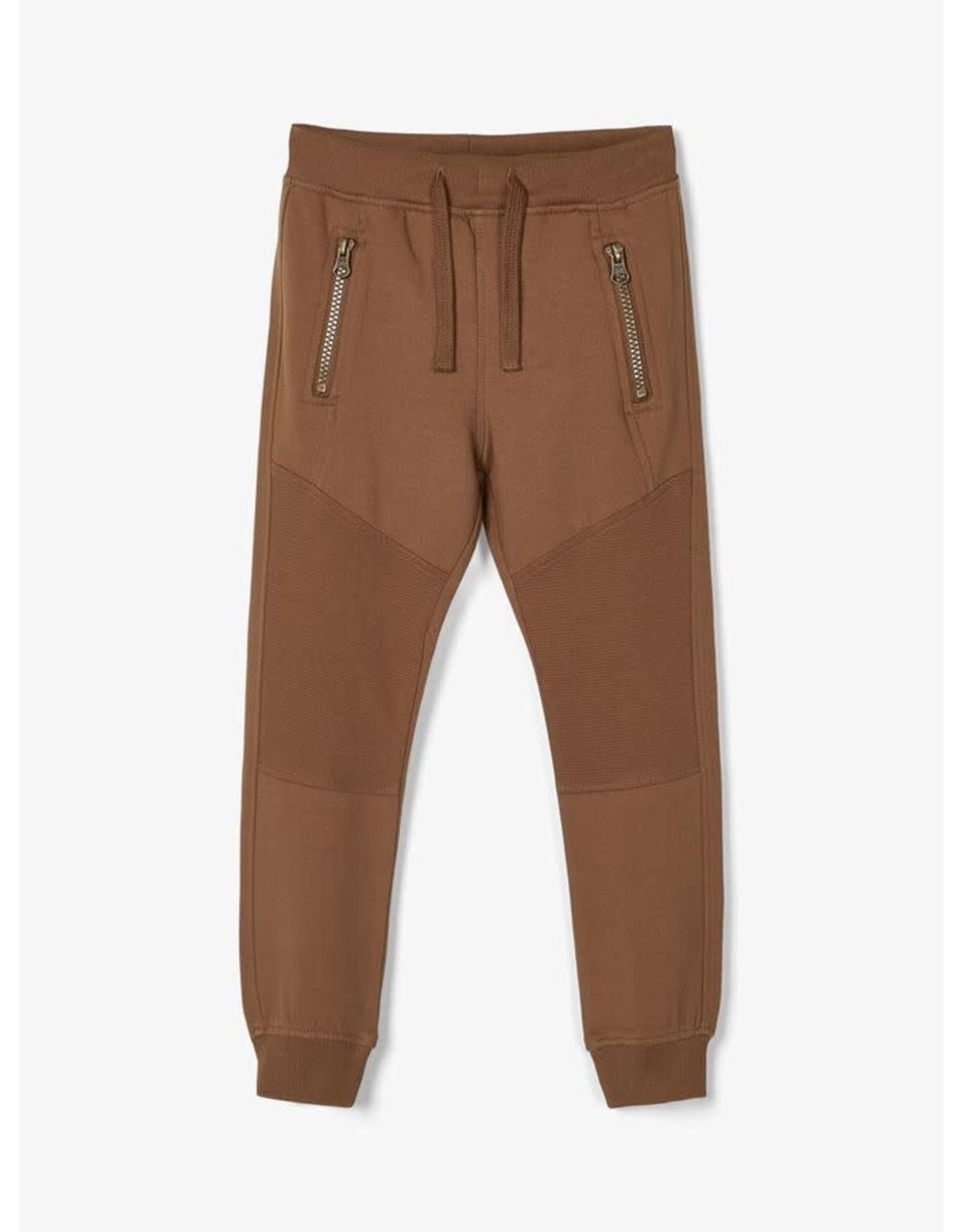 Name It Jogging broek bruin voor de kleine jongens