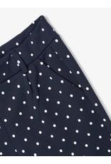 Name It Soepele donkerblauwe meisjes broek met stipjes