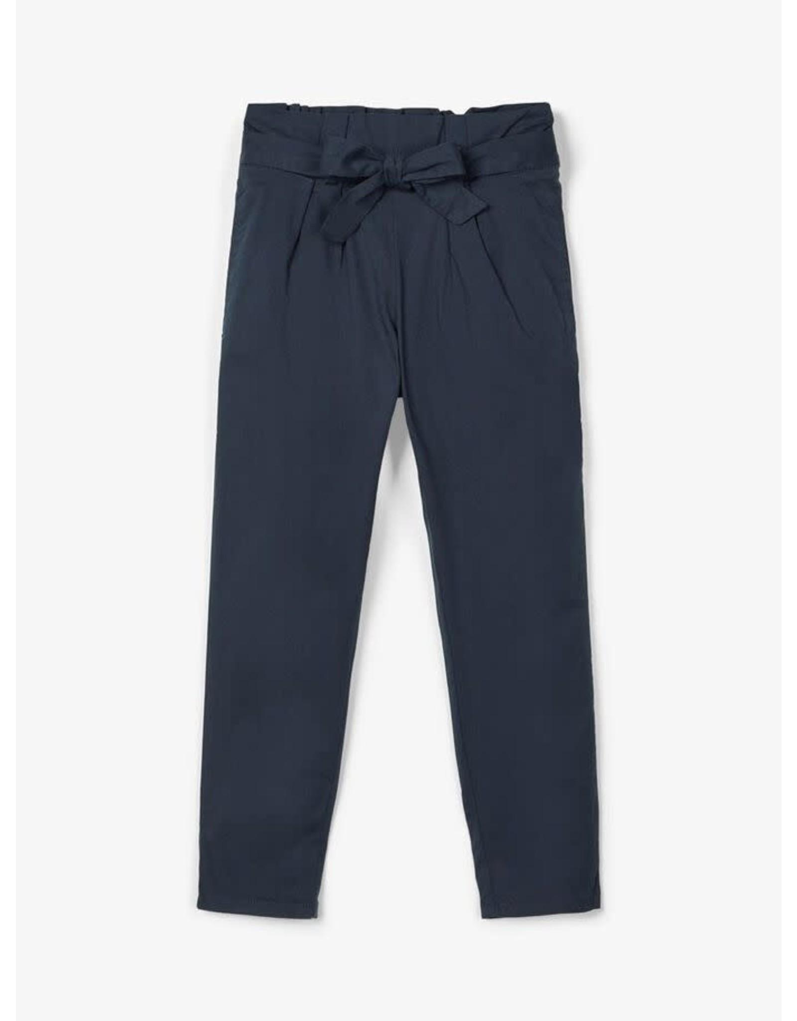 Name It Zachte katoenen donkerblauwe meisjes broek