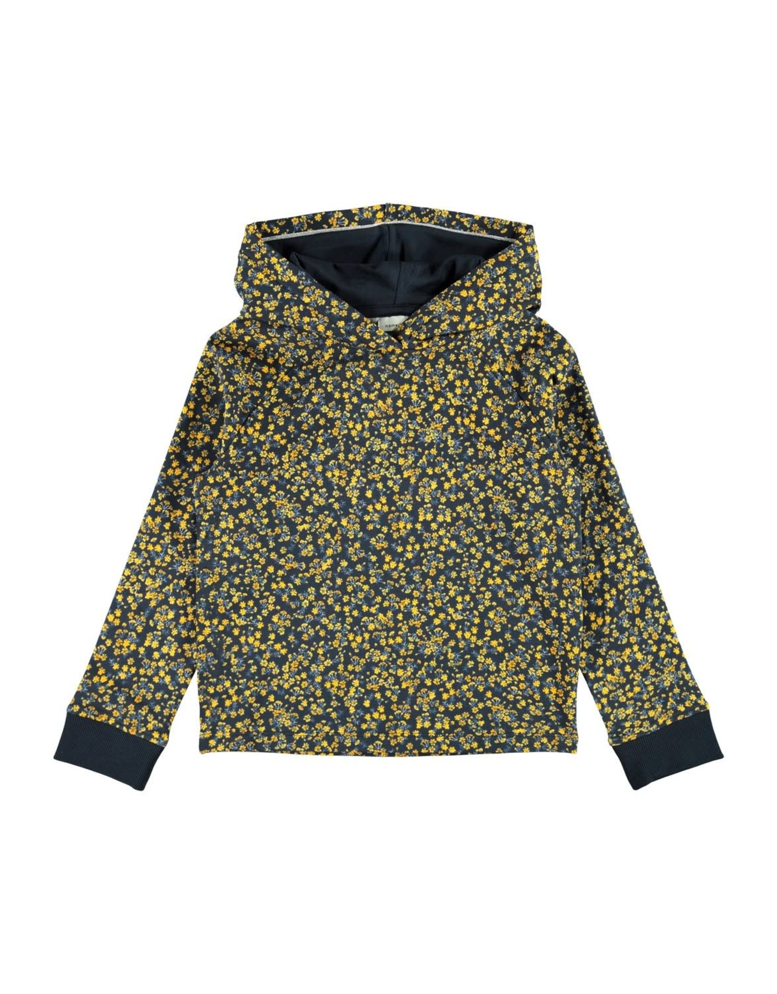 Name It Zachte meisjes hoodie met bloemetjes