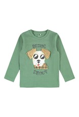 Name It Groene t-shirt met hond