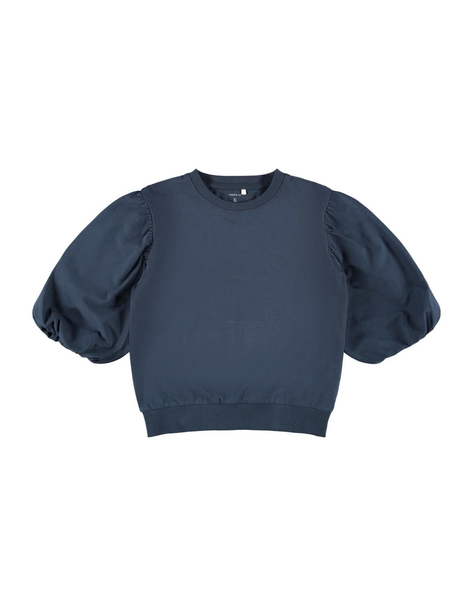 Name It Donkerblauwe t-shirt met pofmouwen