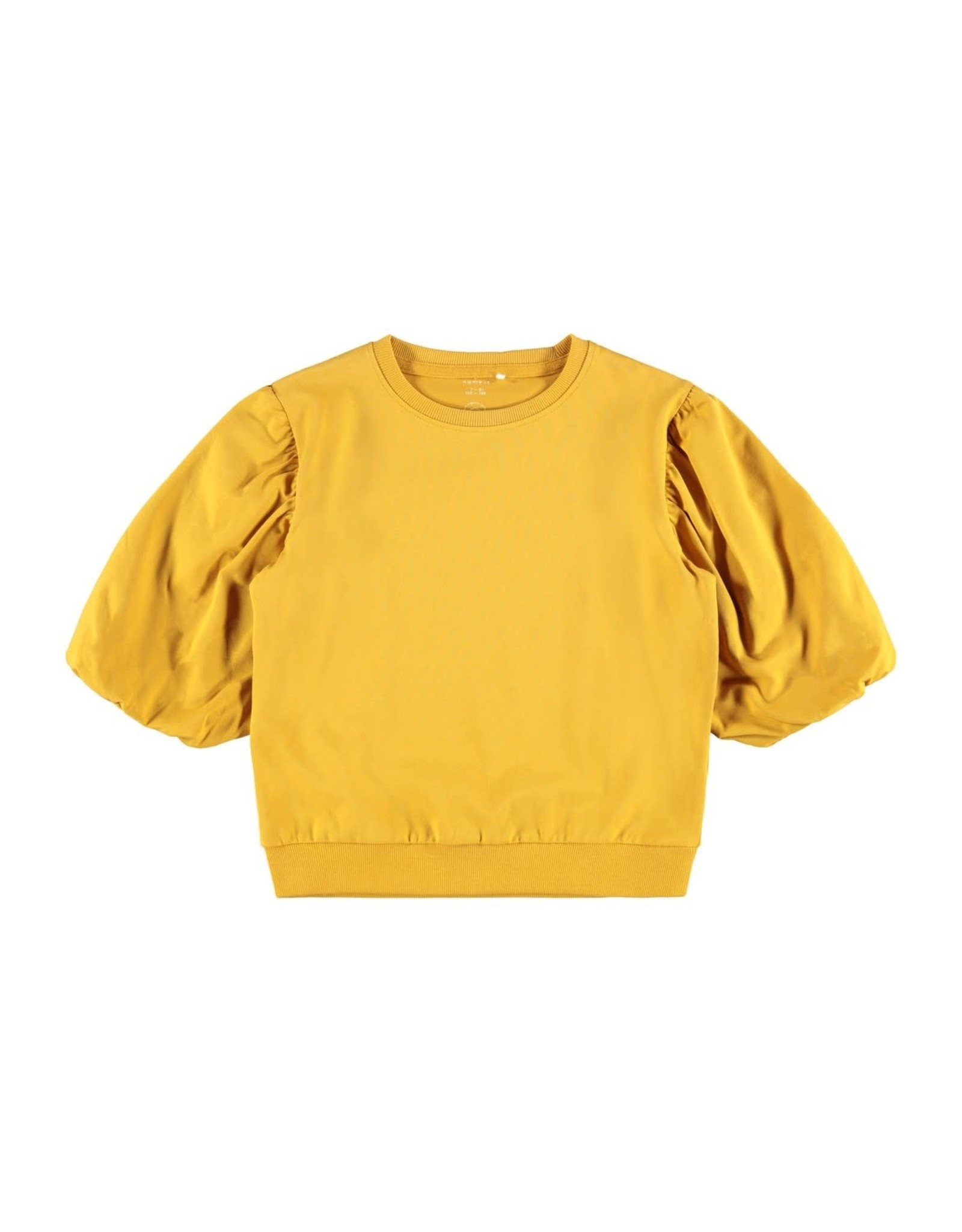 Name It Gele t-shirt met pofmouwen