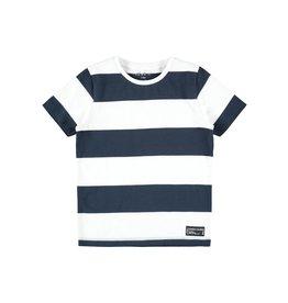 Name It T-shirt met blauw/witte strepen