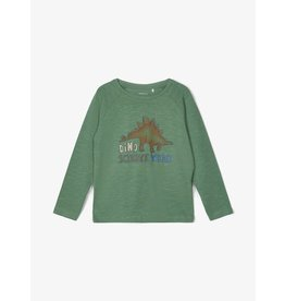 Name It Groene t-shirt met dino print