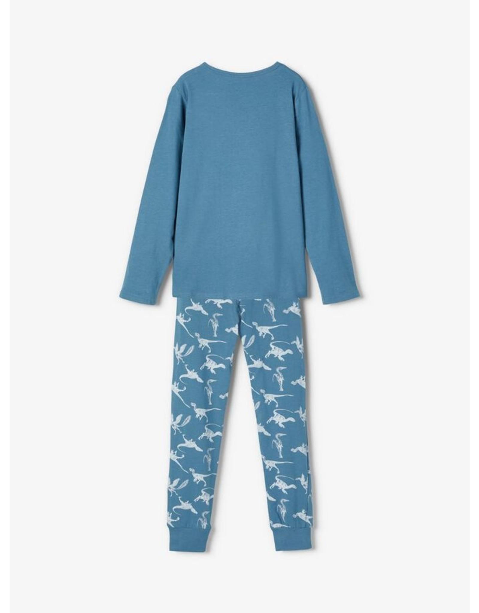 Name It Pyjama met dino print uit bio katoen