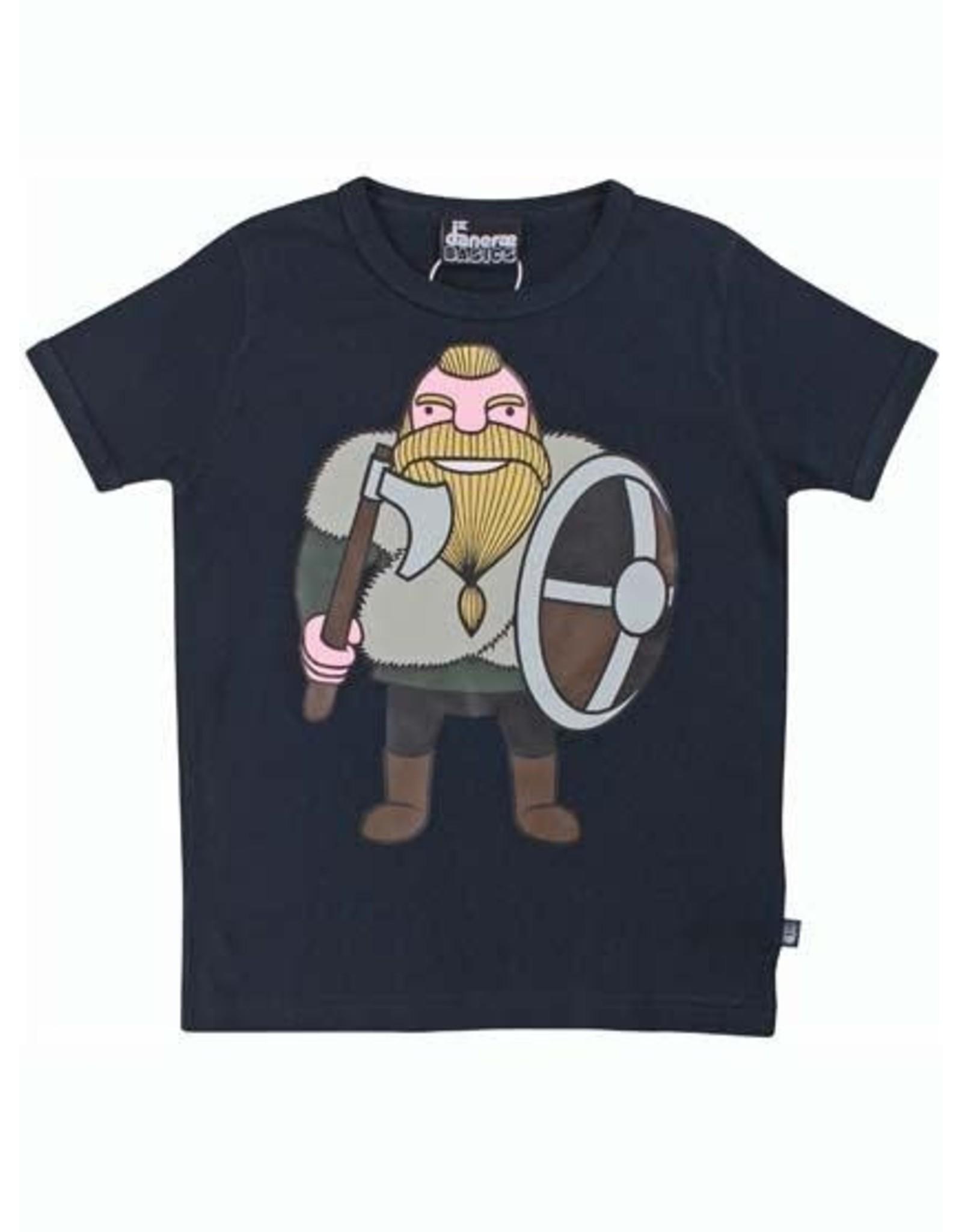 Danefae Donkerblauwe t-shirt met viking Harald