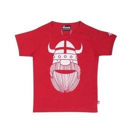 Danefae Rode t-shirt met viking Erik en Deense vlag
