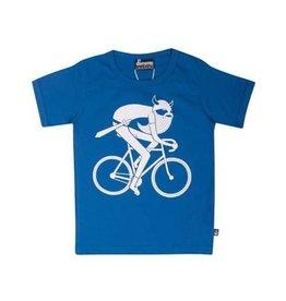 Danefae Fel blauwe t-shirt met fietsende viking