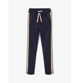 Name It Blauwe meisjes jogging broek met zijstreep