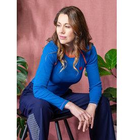 ALBA of Denmark VOLWASSENEN Stretchy fel blauwe t-shirt