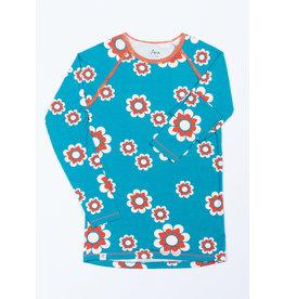 ALBA of Denmark VOLWASSENEN Zachte t-shirt met grote retro bloemen