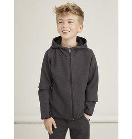 Name It Hoodie sweater vest gemeleerd grijs