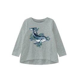 Name It Grijze A-model t-shirt met dolfijn