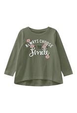 Name It Bedrukt groen t-shirt voor de kleine meisjes