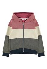 Name It Colour block meisjes glitter hoodie