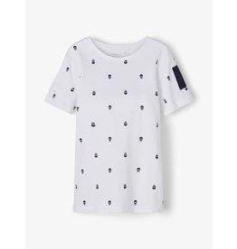 Name It Witte t-shirt met kleine doodskopjes print