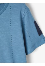 Name It Blauwe t-shirt met verticale alfabet print
