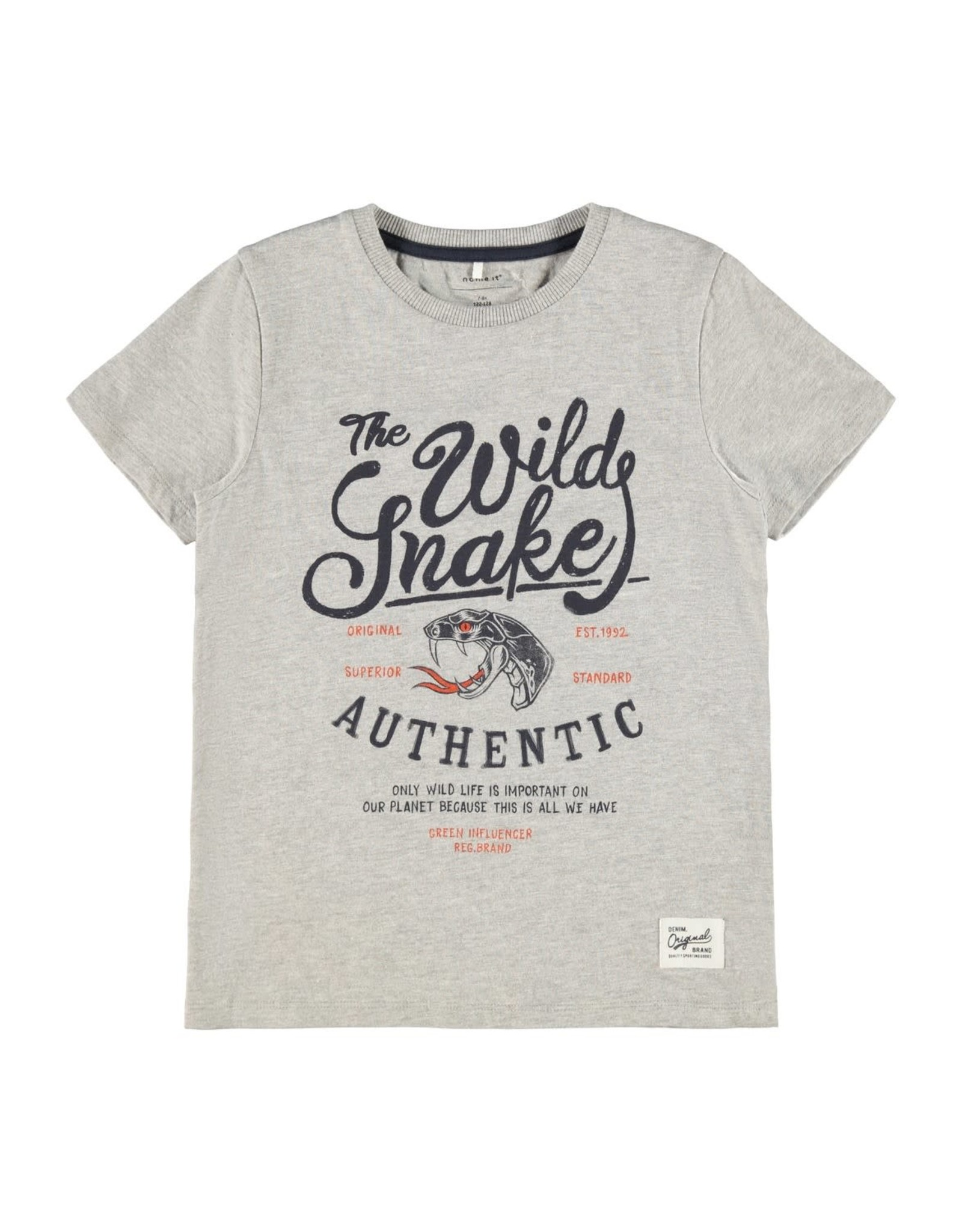 Name It Grijze t-shirt met bedrukking
