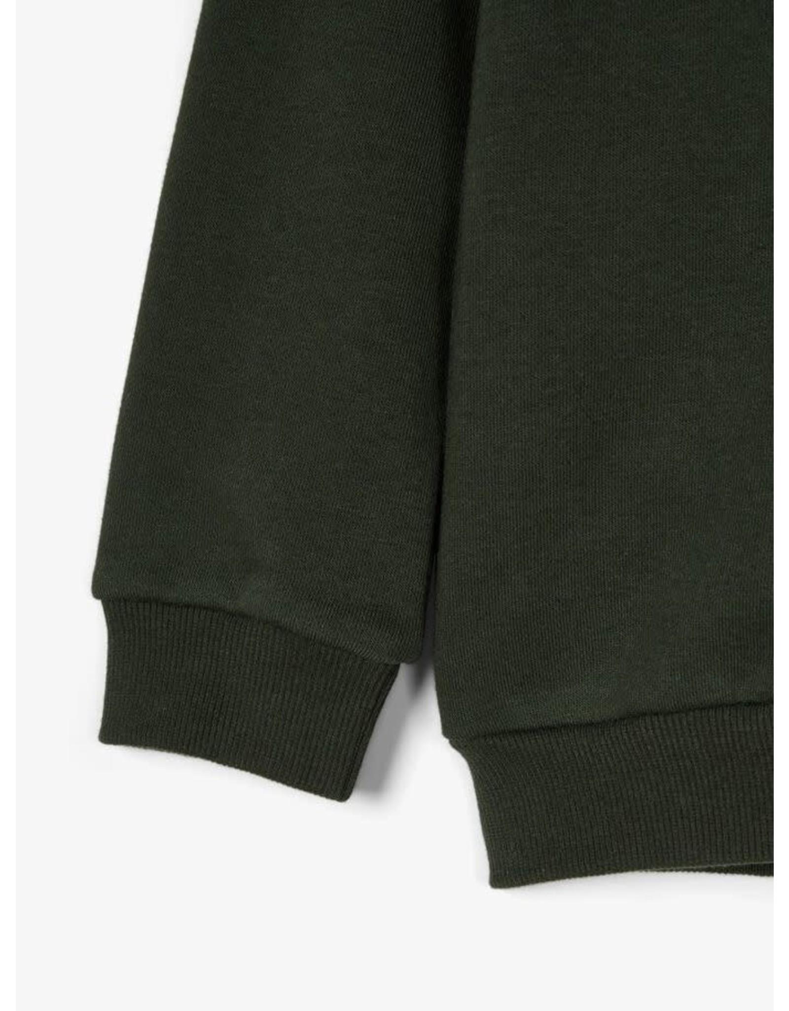 Name It Donkergroene sweatstof jogging trui