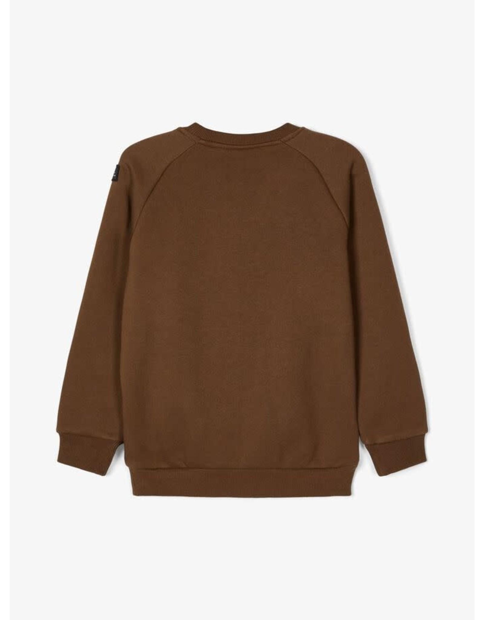 Name It Donkerbruine sweatstof trui