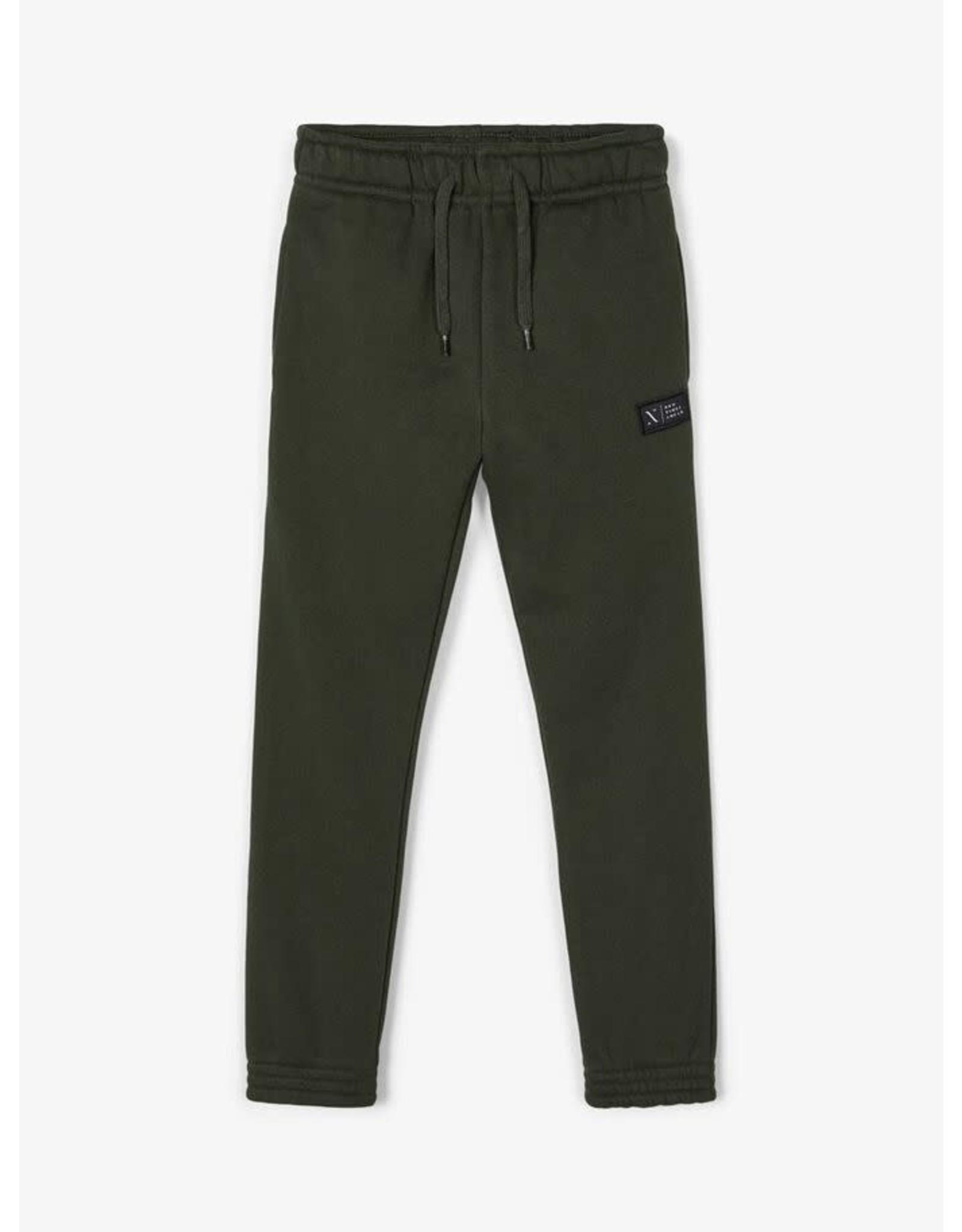 Name It Donkergroene warme jogging broek