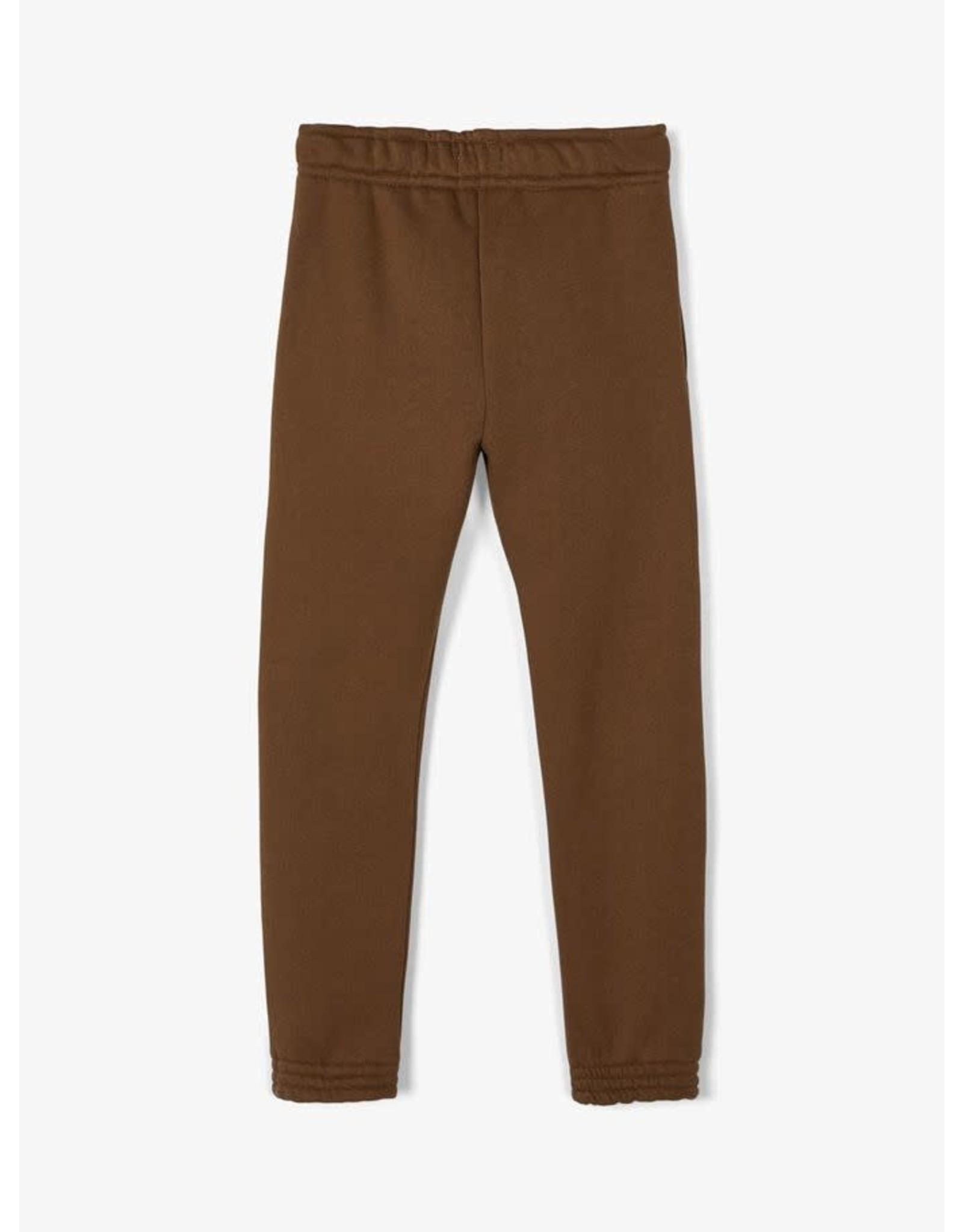 Name It Donkerbruine warme sweatstof jogging broek