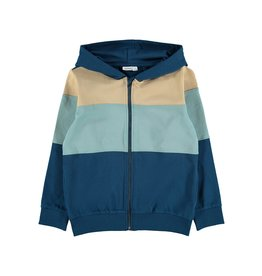 Name It Colour block hoodie vest met rits