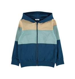 Name It Colour block hoodie vest met rits