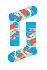 Happy Socks MAAT 36/40 - Blauw oranje jungle sokken