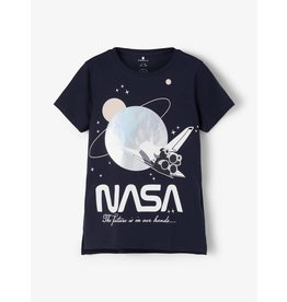 Name It Blauwe NASA space t-shirt