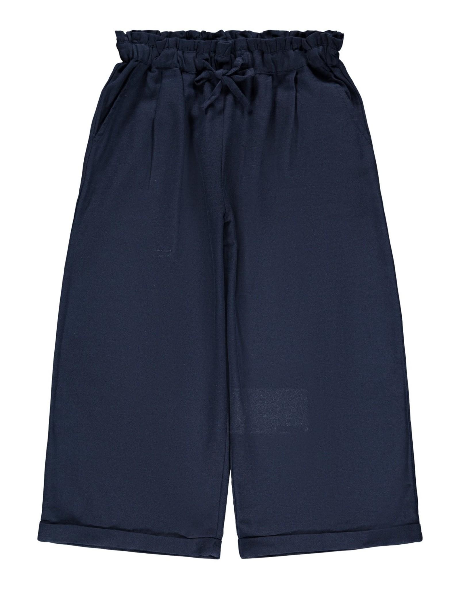 Brede lichte blauwe broek