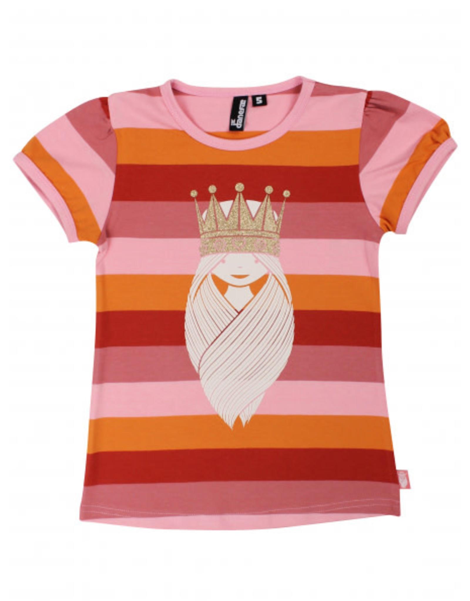 Danefae Gestreepte t-shirt met viking prinses Freja
