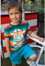 Danefae T-shirt met vrolijke streepjes en viking Erik