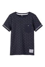Name It Donkerblauwe t-shirt met geometrisch patroon