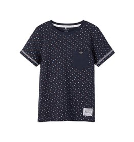 Name It Donkerblauwe t-shirt met geometrisch patroon