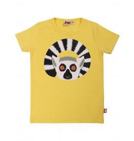 Dyr Fel gele t-shirt met lemur
