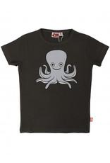 Dyr Donker grijze t-shirt met inktvis