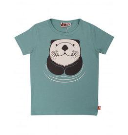 Dyr Teal blauwe t-shirt met schattige bever