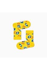 Happy Socks Gele sokken voor kinderen met tijgers