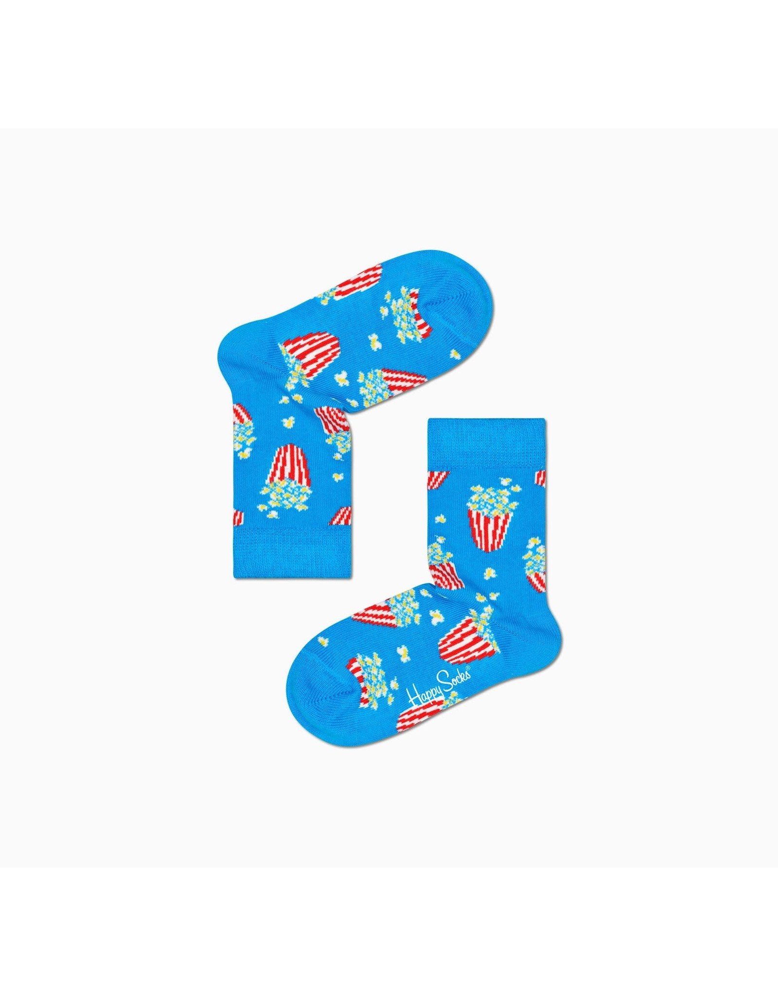 Happy Socks Kindersokken met popcorn print