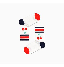 Happy Socks Geribde kersen kousen voor kinderen