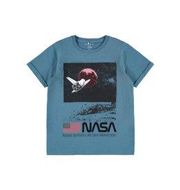 Name It Blauwe NASA space t-shirt