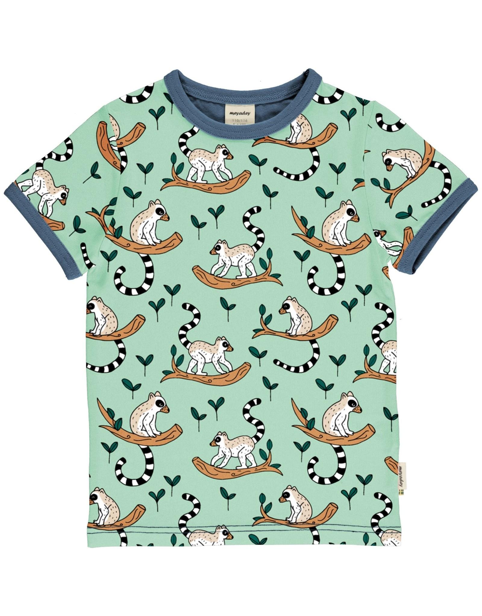 Meyadey T-shirt met ringstaartmaki's