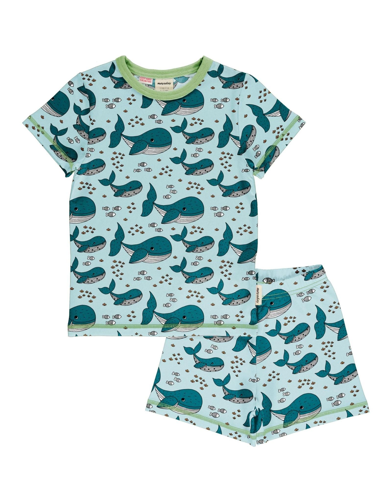 Meyadey Zomerpyjama met walvis print