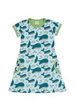Meyadey A-lijn kleedje met all-over walvis print