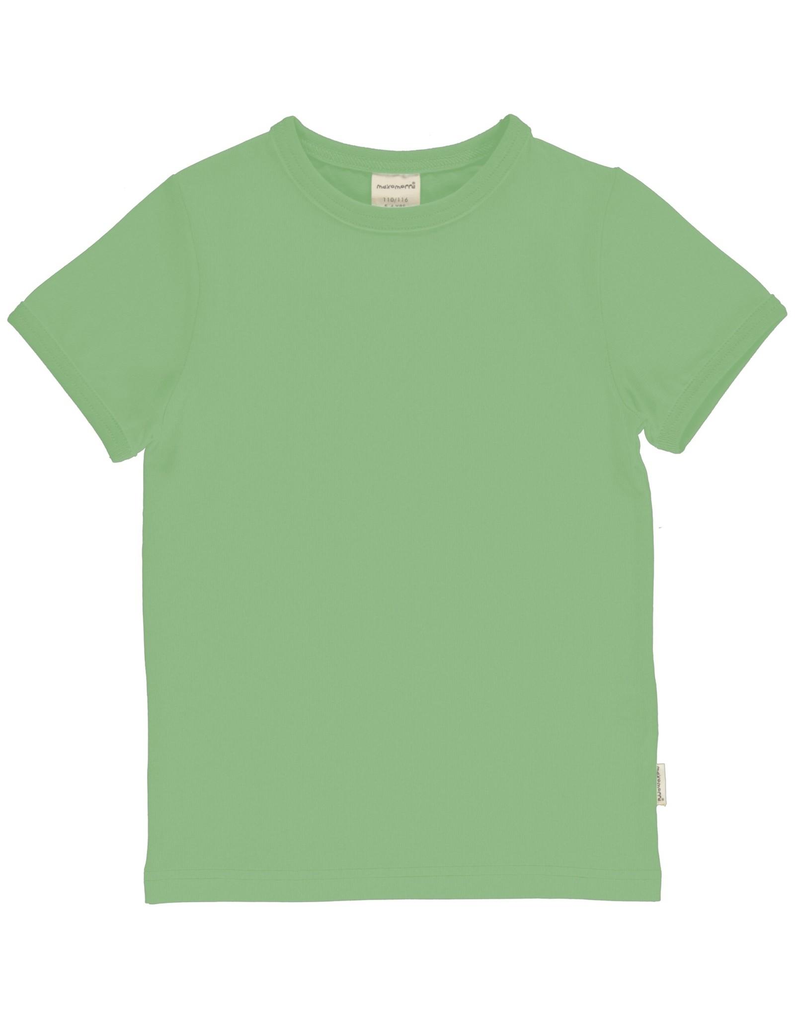 Meyadey Zacht groene basic t-shirt