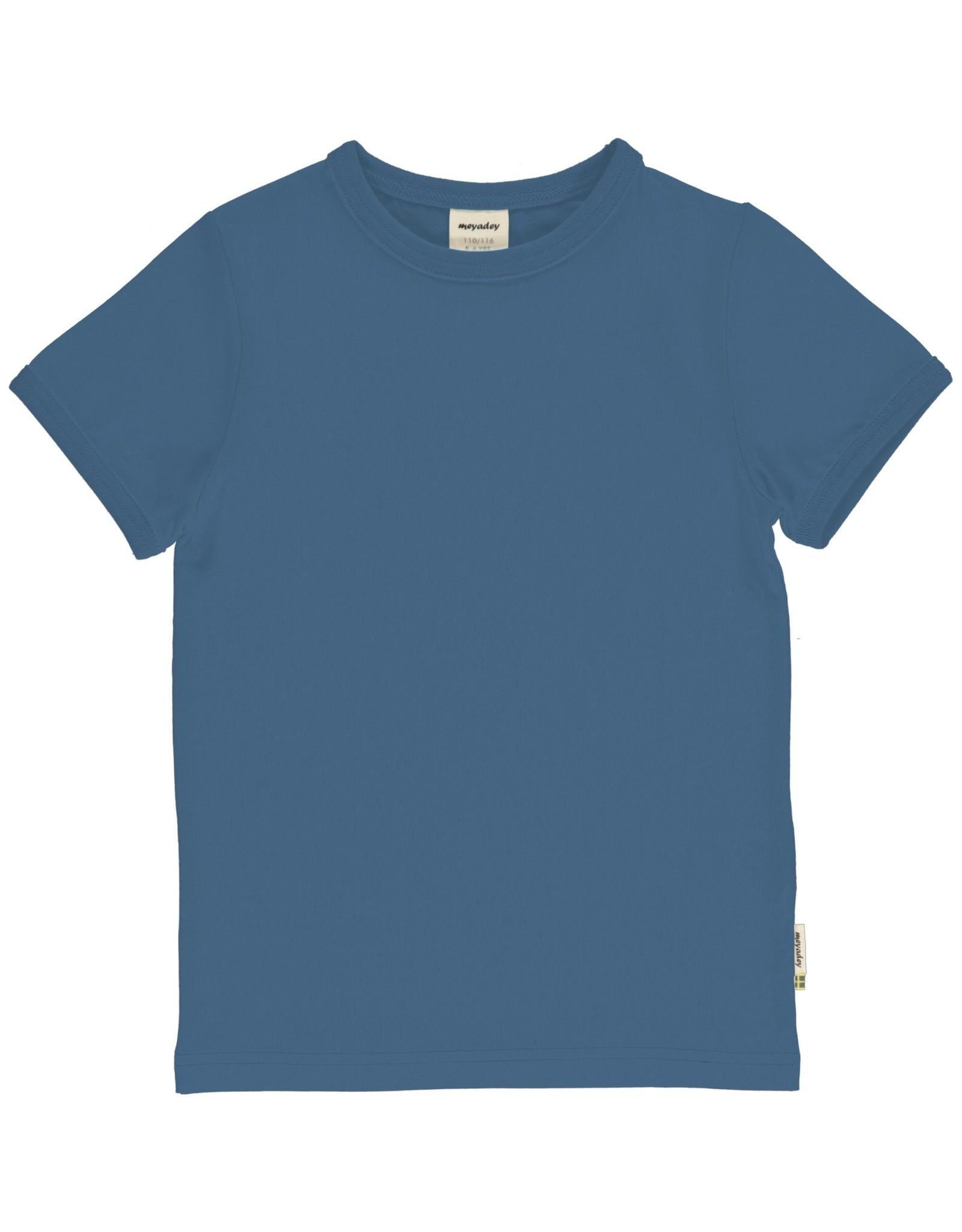 Meyadey Zachtblauwe basic t-shirt