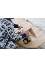 Maxomorra Hoodie vest met rits en tractor print